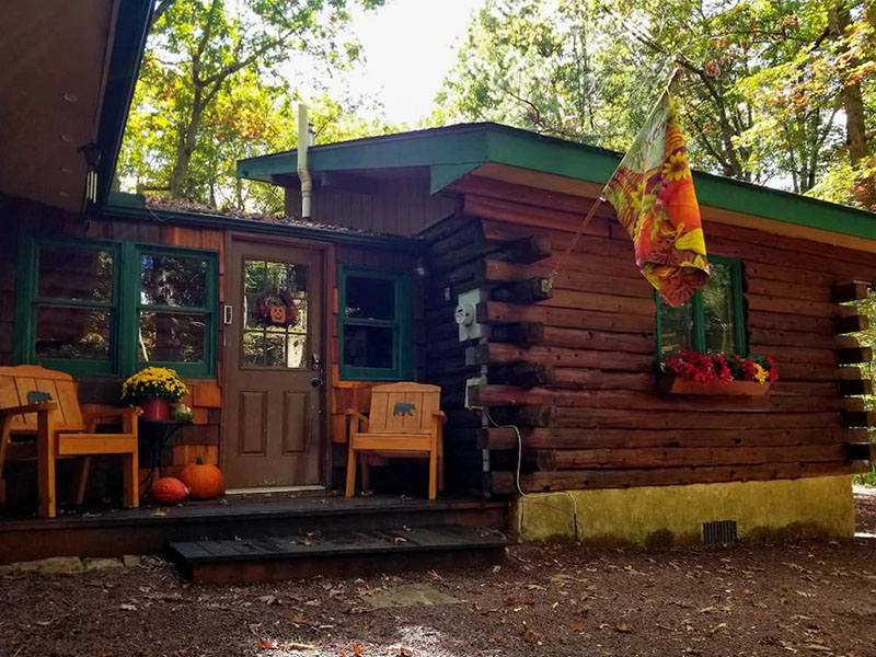 Exterior of the Honey Bear Cabin in Jim Thorpe.