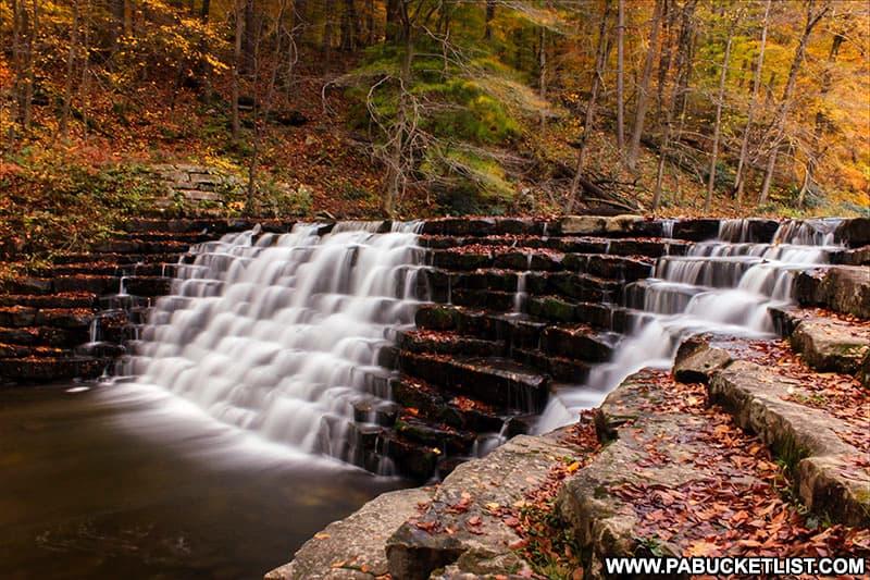Jones Mill Run Dam in October.