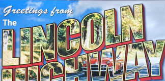 Postcard from the Lincoln Highway Experience in Latrobe Pennsylvania.