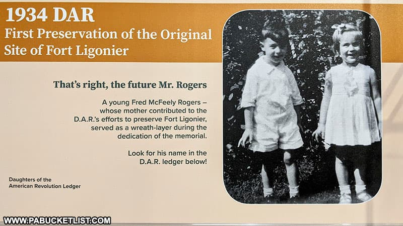 Mister Rogers link to Fort Ligonier explained in this exhibit at the Fort Ligonier Museum.