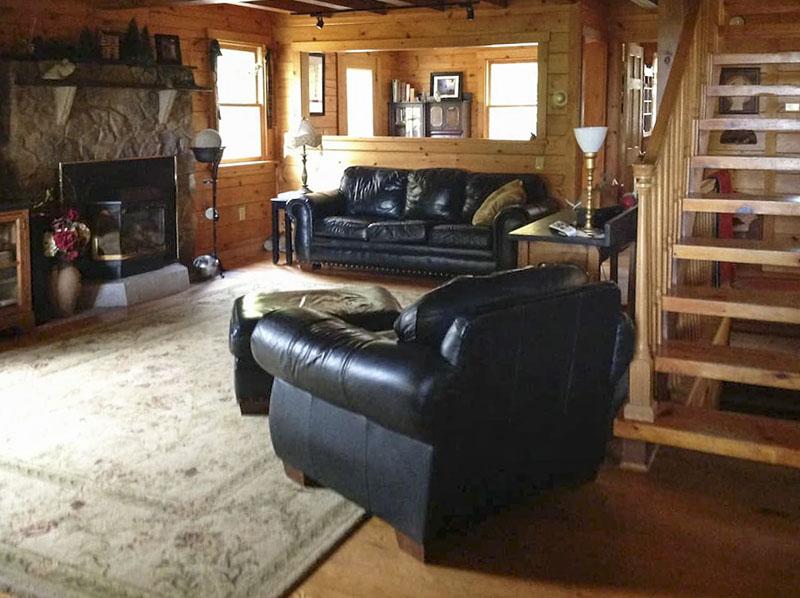 Interior of PA Mountain House vacation rental near Wellsboro PA