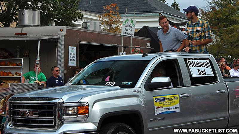 Pittsburgh Dad at the Fort Ligonier Days parade.