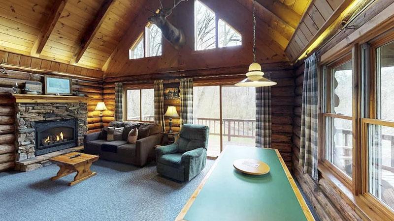 Interior of Rough Cut Lodge near Wellsboro PA