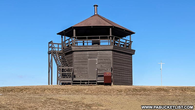 The scenic overlook tower at Laurel Hill State Park in Somerset County Pennsylvania.