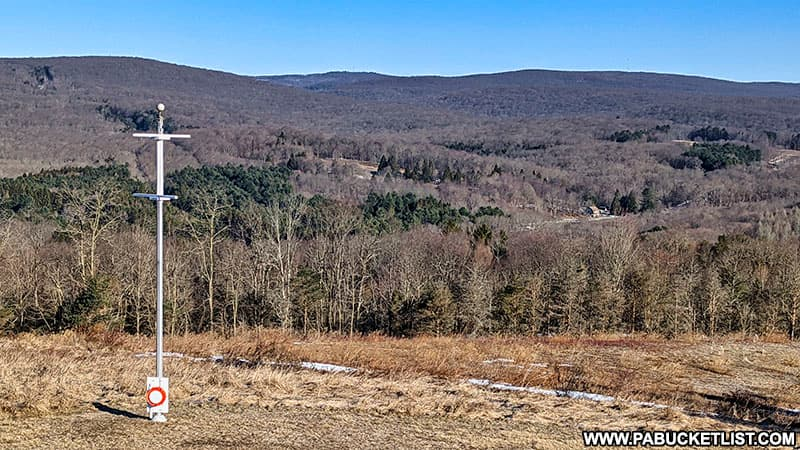 Part of the panoramic view from the Laurel Hill State Park scenic overlook tower.