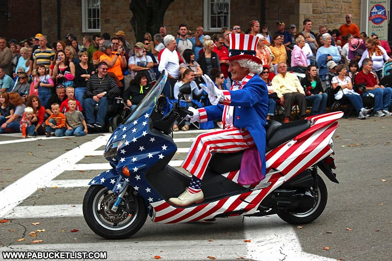 Uncle Sam in the Fort Ligonier Days parade.