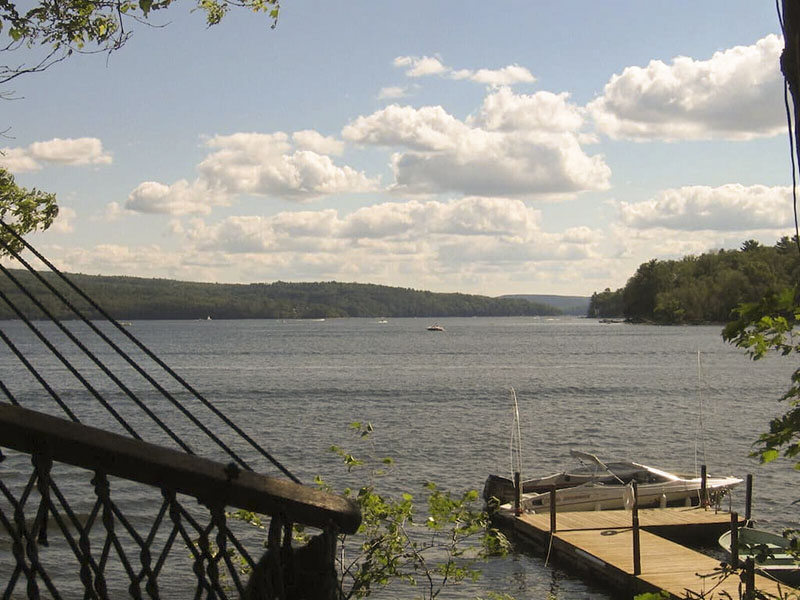 The view from a vacation rental on Lake Wallenpaupak,