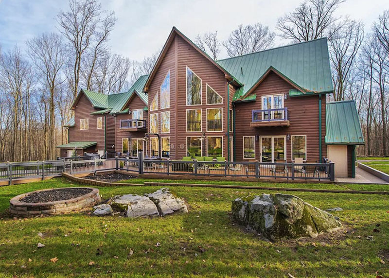 A mountain cabin vacation rental in the PA Laurel Highlands.