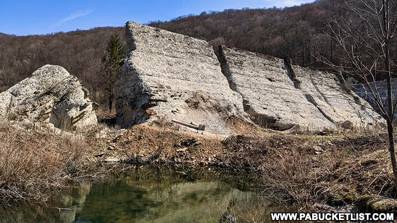 Remains of Austin Dam in Potter County PA