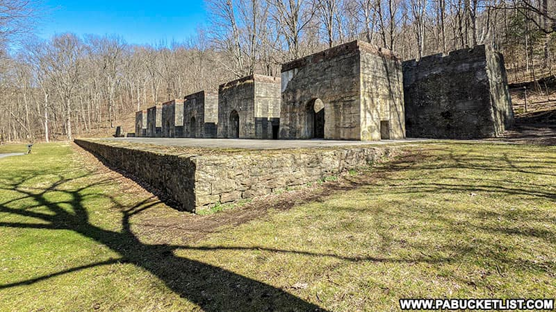 The abandoned lime kilns at Canoe Creek State Park in Blair County.