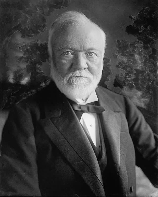 Portrait of Andrew Carnegie who founded the town of Scotia.