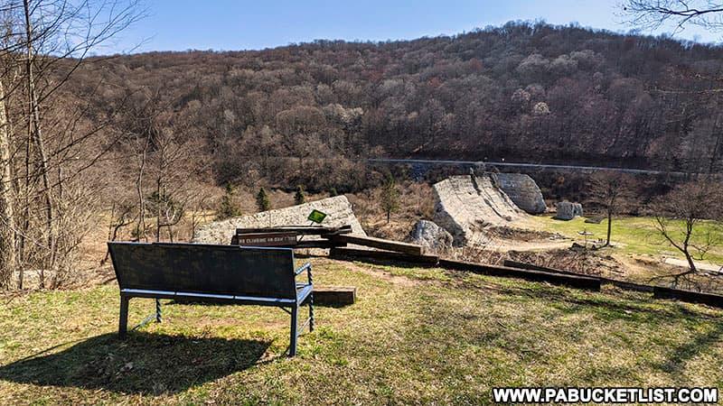 Overlook at Austin Dam Memorial Park.