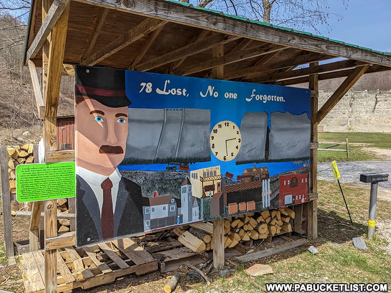 Mural at the Austin Dam Memorial Park in Potter County, PA.