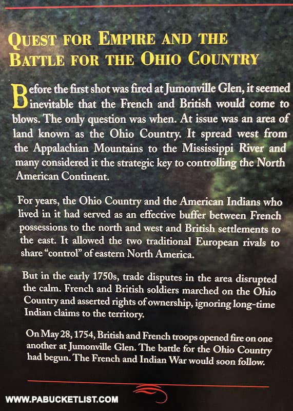 Reasons for the disputes between the French and British over control of the Ohio County.