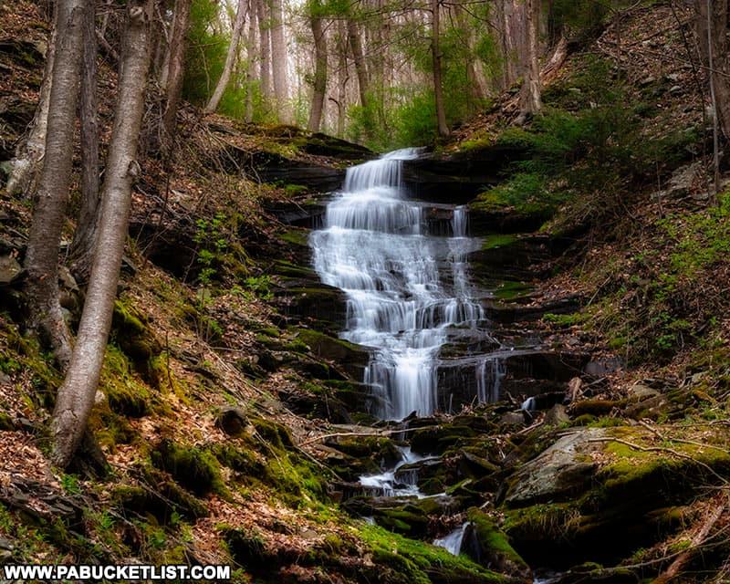Benjamin Hollow Falls along the Pine Creek Rail Trail in Tioga County Pennsylvania
