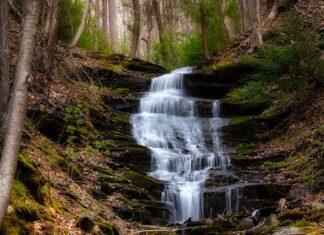 Benjamin Hollow Falls in Tioga County Pennsylvania