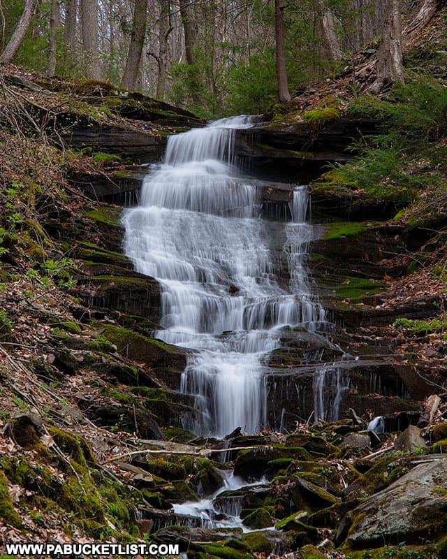 Benjamin Hollow Falls in the Pine Creek Gorge.