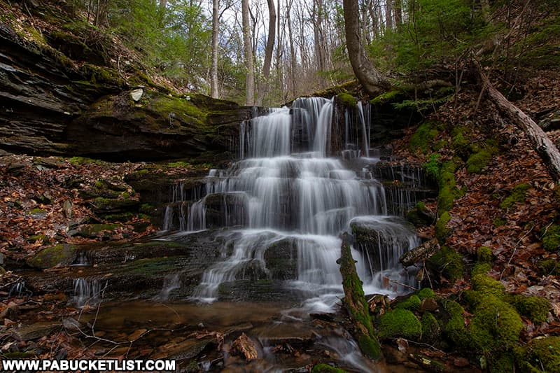 Top tier of Benjamin Hollow Falls in the PA Grand Canyon.