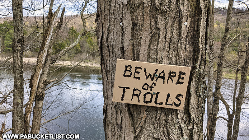 Beware of trolls along the Colyer Lake Trail near State College.