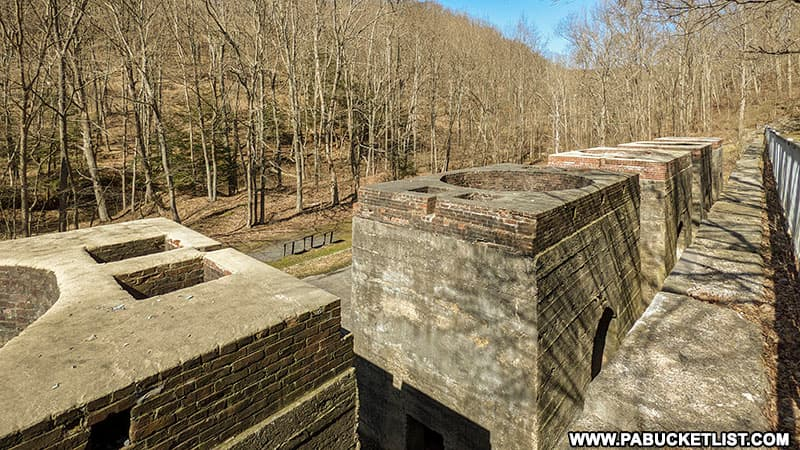 The historic lime kilns at Canoe Creek State Park in Blair County Pennsylvania.
