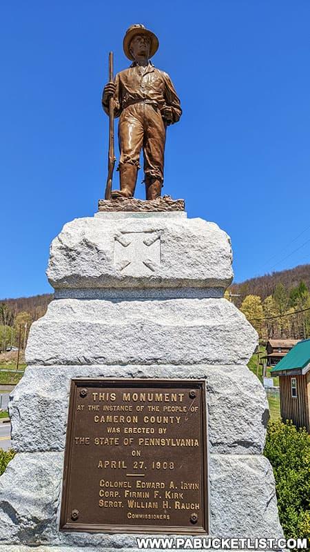 Bucktail Regiment memorial in Driftwood, Pennsylvania.