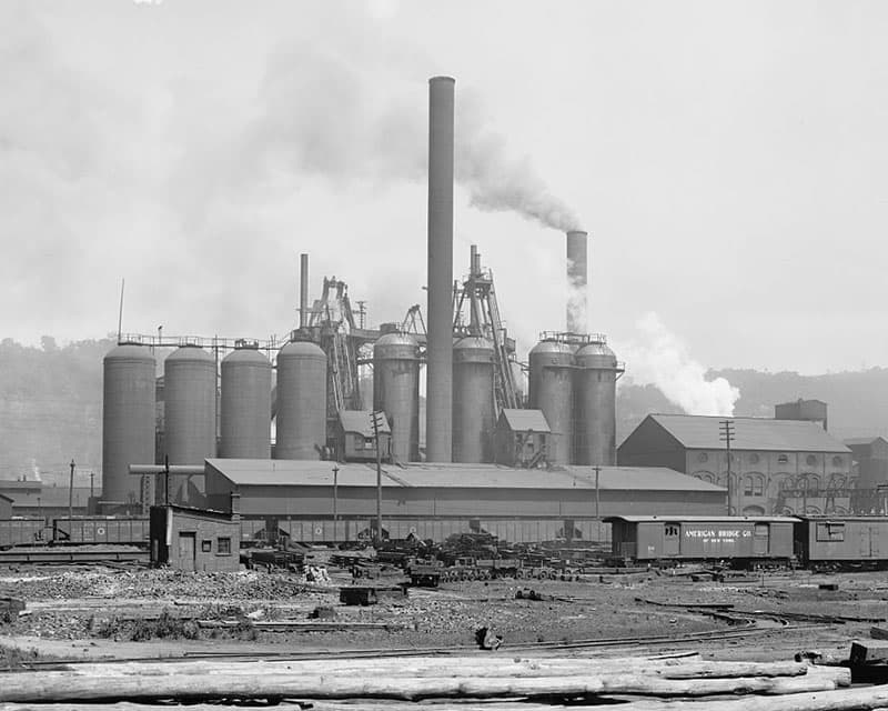 A Carnegie Steel plant in Pittsburgh.