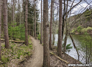 The Colyer Lake Trail just outside State College Pennsylvania.