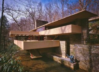 Early spring at Fallingwater in the Pennsylvania Laurel Highlands.