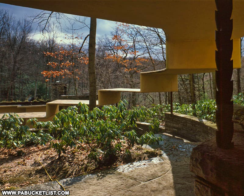 Architectural details at Fallingwater in Fayette County, PA.