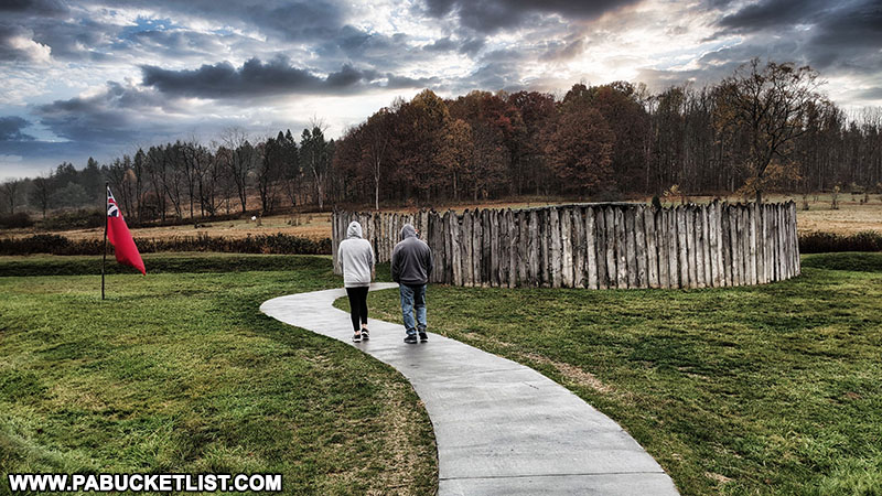 The pathway from the Visitor Center to Fort Necessity.