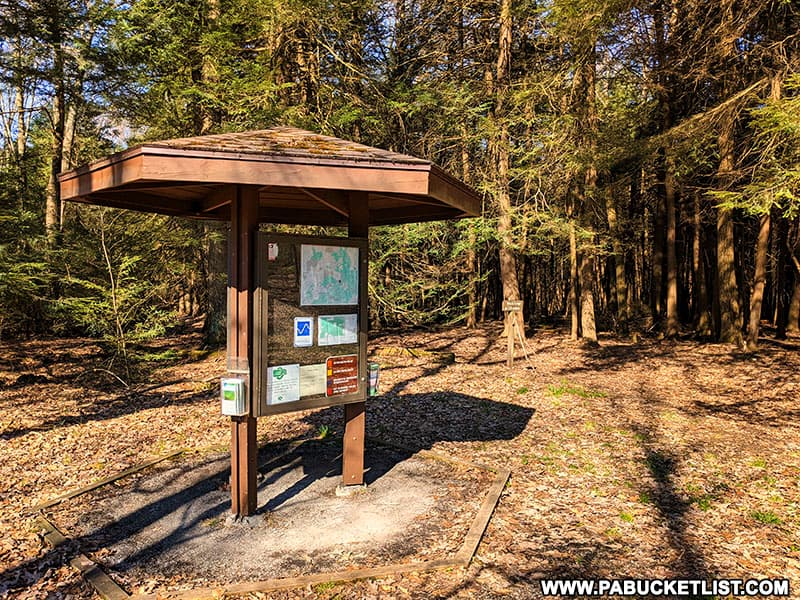 Fred Woods Trail informational kiosk.