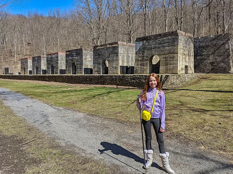 The 6 abandoned lime kilns at Canoe Creek State Park.