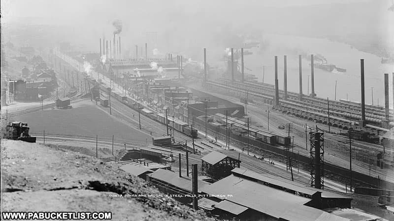 Jones and Laughlin Steel Company in PIttsburgh Pennsylvania.