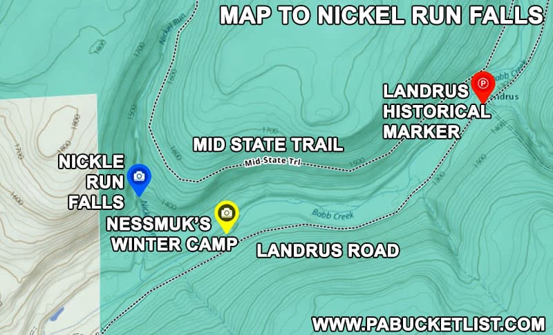 How to find Nickel Run Falls in the Tioga State Forest.