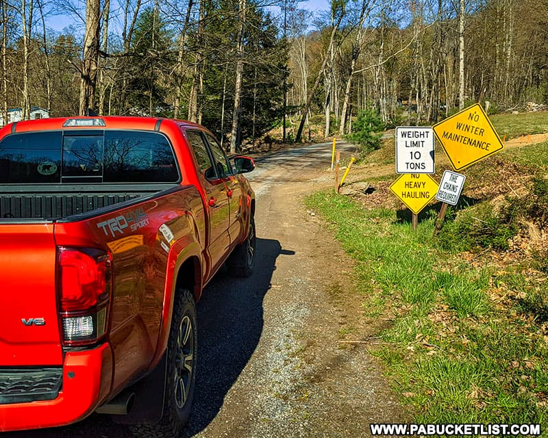Mason Hill Road in Cameron County PA.