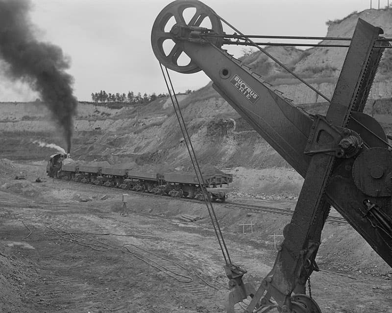 An iron mine in Minnesota in the early 1900s.