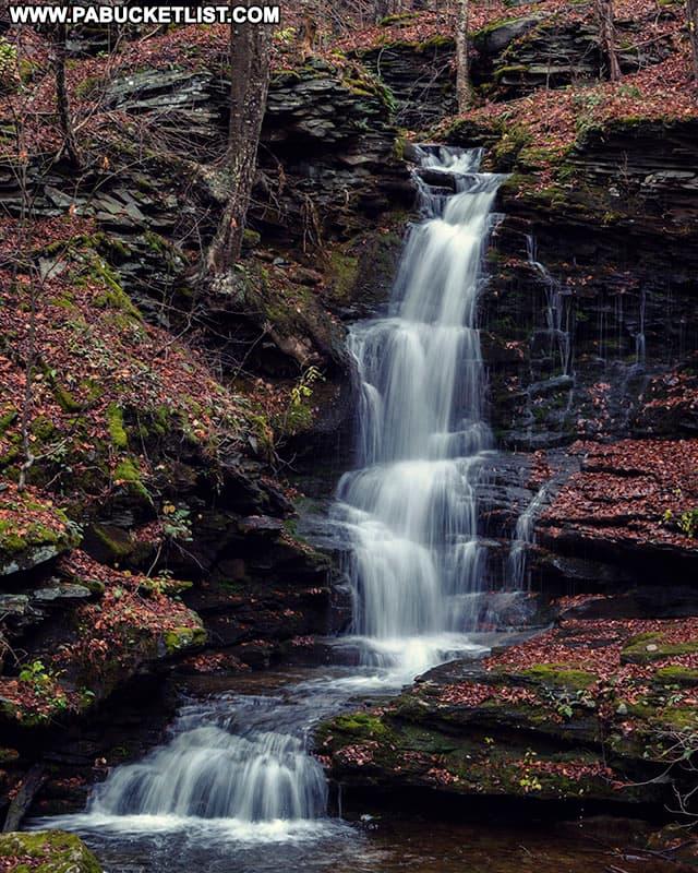 Nickle Run Falls in Tioga County Pennsylvania.