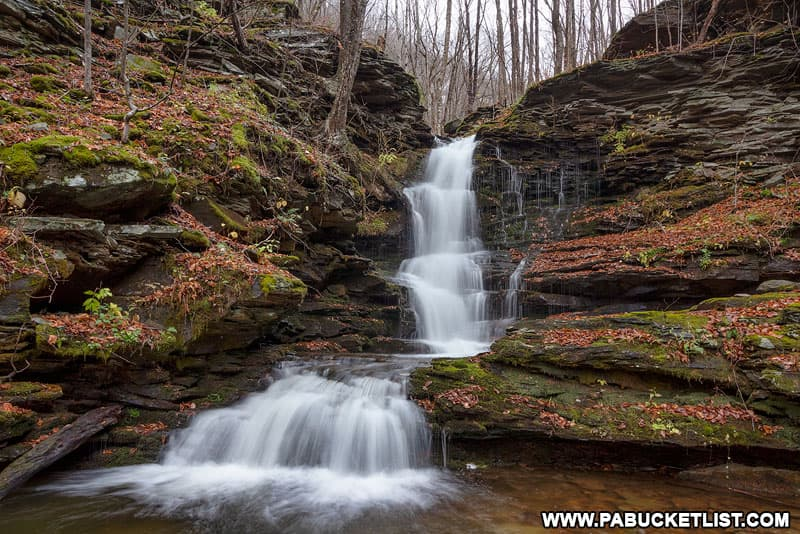 Nickle Run Falls in the Tioga State Forest.