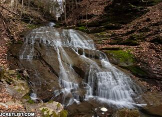 Pine Island Run Falls in the Tioga State Forest.