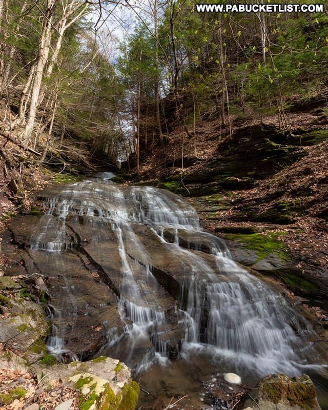 Pine Island Run Falls near the Pine Creek Rail Trail.