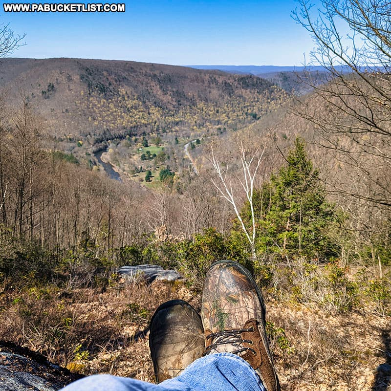 Water Plug Vista makes for a great rest stop along the Fred Woods Trail in Cameron County PA