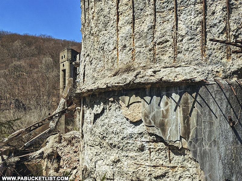 Walls of the abandoned Bayless Paper Mill in Potter County Pennsylvania.
