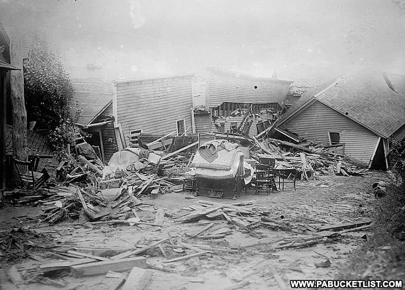 Aftermath of the Austin Dam Flood in Potter County Pennsylvania.