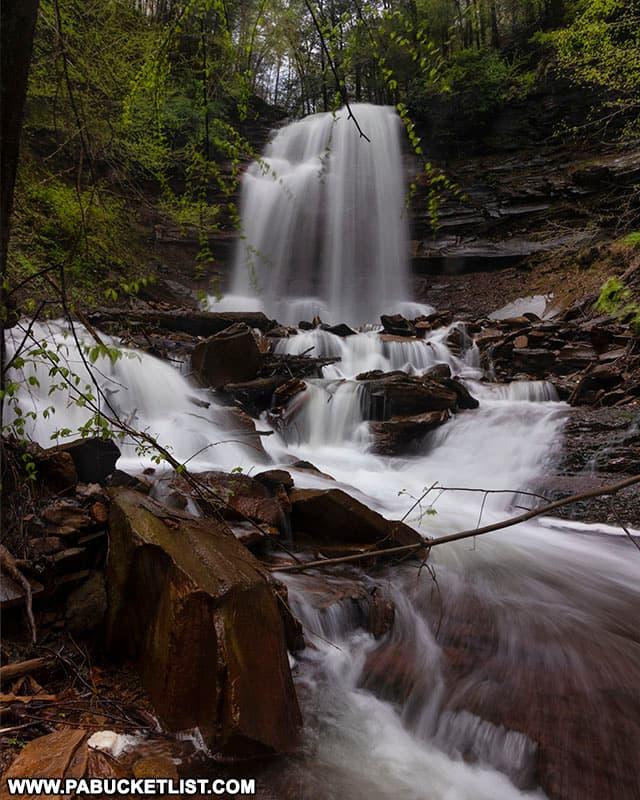 Bradford Falls running high after heavy spring rains.
