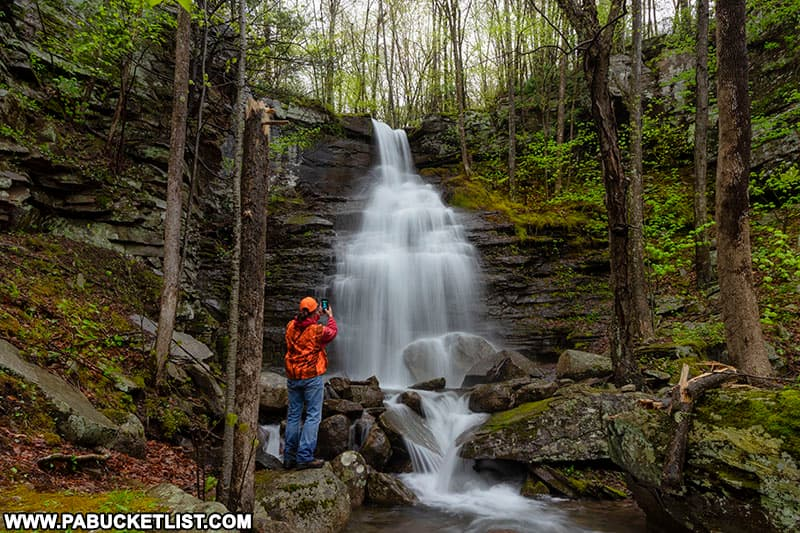 The author at Deep Hollow Falls in Bradford County PA