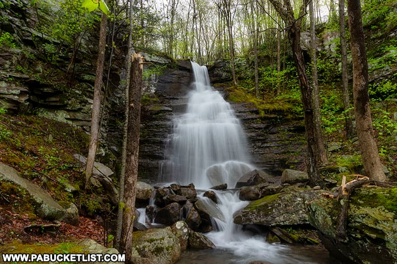 Deep Hollow Falls on a spring morning after heavy rain.