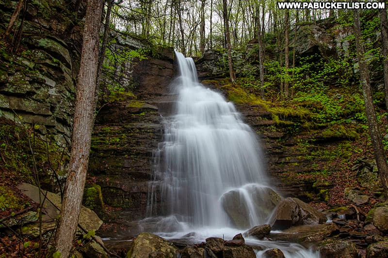 Close-up of Deep Hollow Falls in Bradford County PA