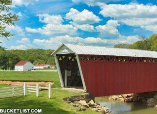 Harmon Covered Bridge in Indiana County Pennsylvania