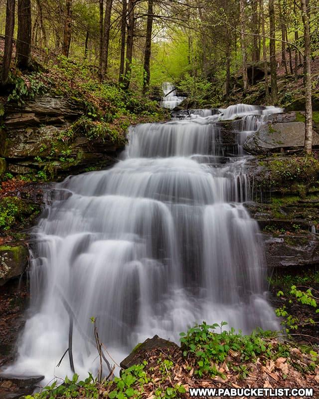 Springtime at Holcomb Falls in Bradford County Pennsylvania.
