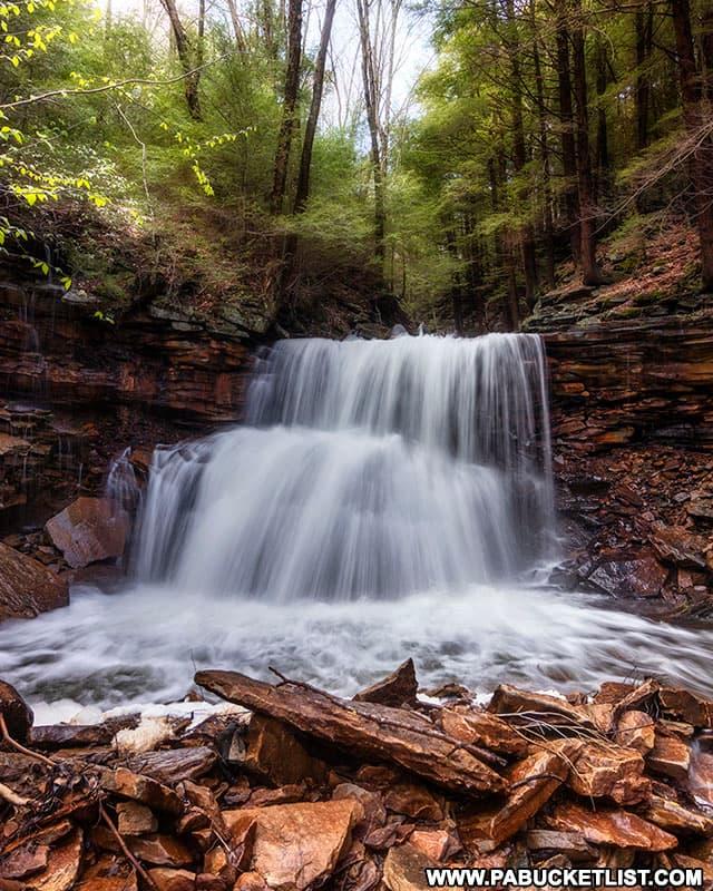 Laquin Falls along Falls Creek in Bradford County, PA